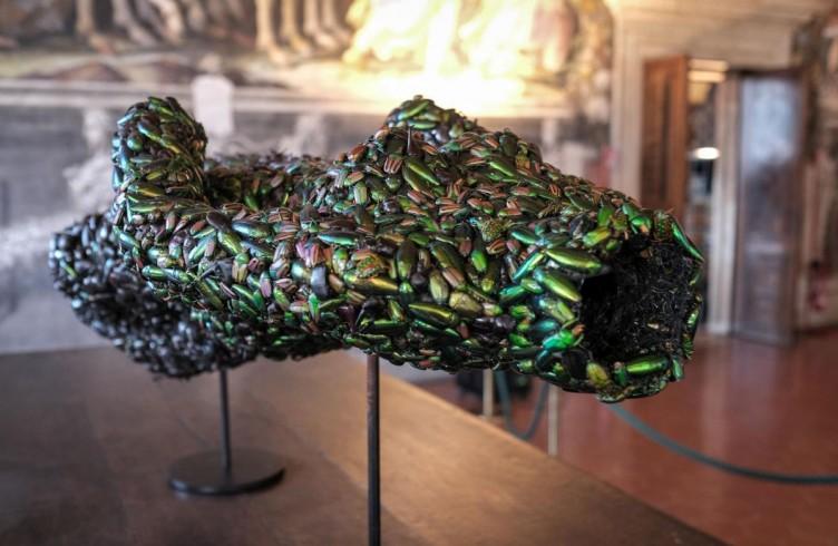 Angelo caduto (2000) Scarabei su fil di ferro Foto di Emiliano Cribari © Angelos Bvba