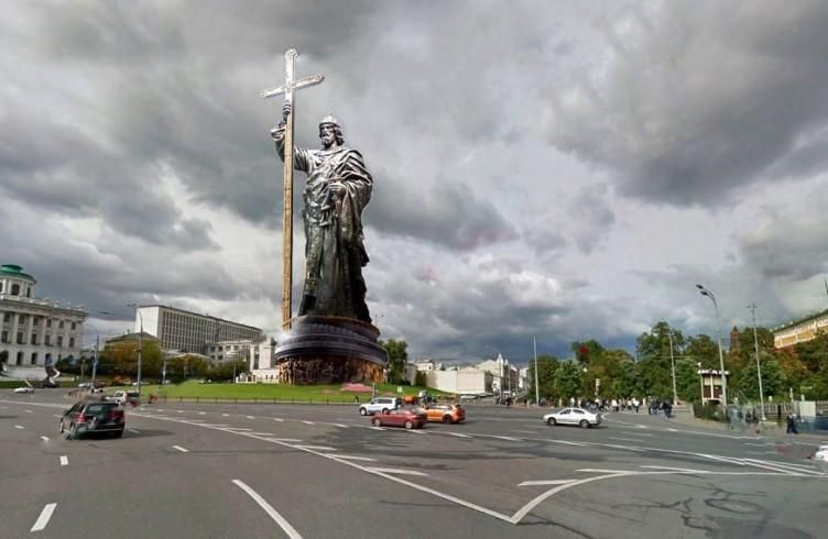 Redering del monumento a Vladimir ( ic.pics.livejournal.com)