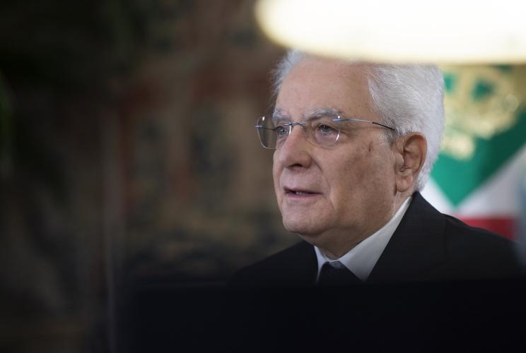 Il Presidente. della Repubblica Sergio Mattarella.